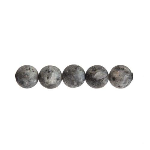 round larvikite bead 8mm