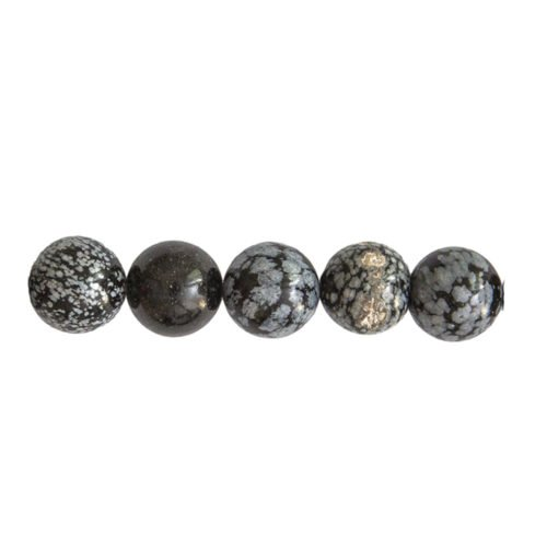 Snowflake Obsidian Beads 14mm