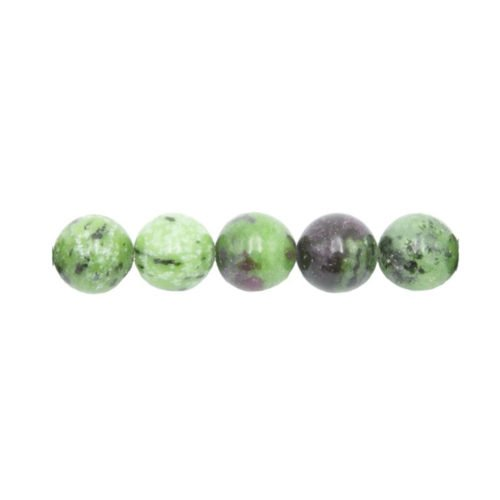 ruby in zoisite beads 10 mm