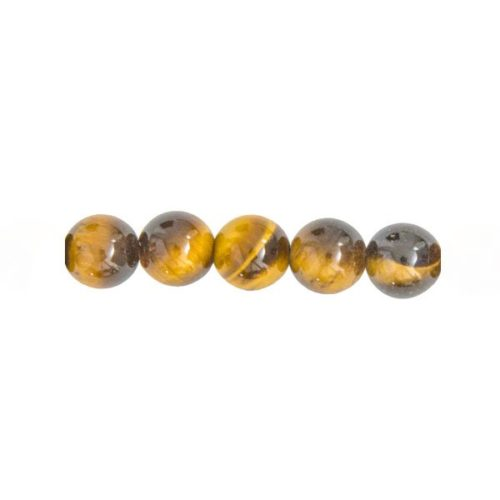 Bag of 5 Tiger's Eye Beads 8 mm