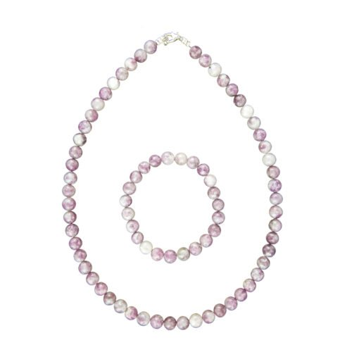 Rubellite Jewellery Set - 8mm