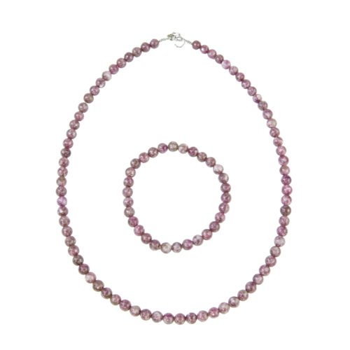 Rubellite Jewellery Set - 6mm