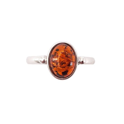 camille amber 925 silver ring