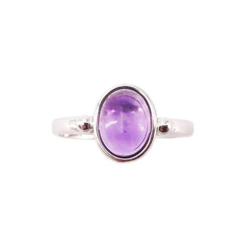 camille amethyst 925 silver ring