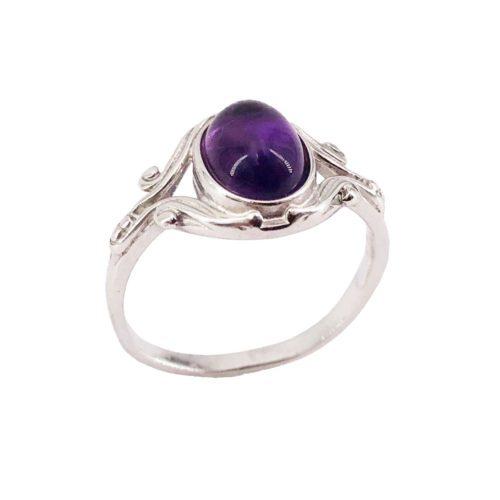 honorine amethyst silver ring