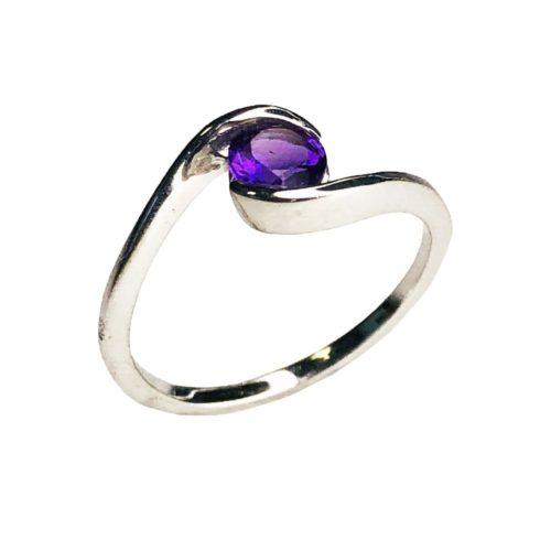 doriane amethyst 925 silver ring