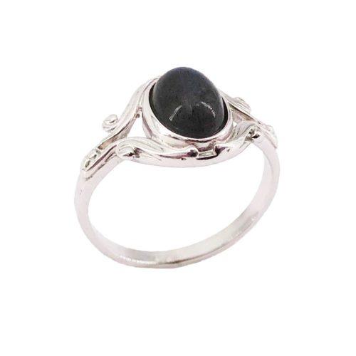 abradorite silver ring