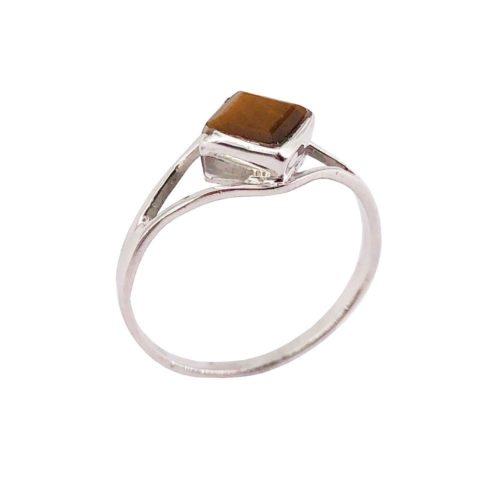 elisabeth tiger eye 925 silver ring