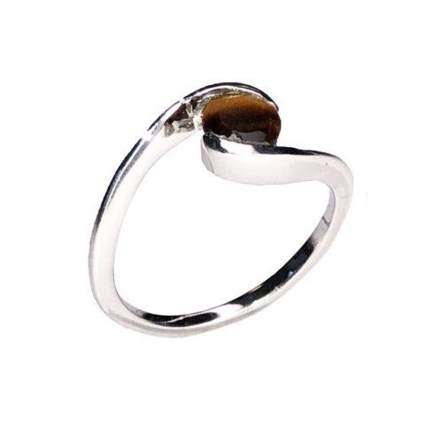 doriane tiger eye ring 925 silver