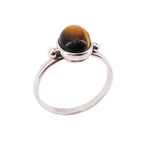 camille tiger's eye 925 silver ring