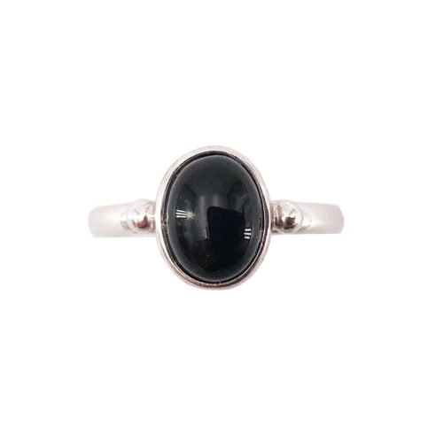 camille black onyx 925 silver ring