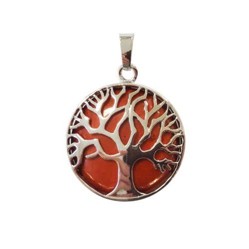 Red Jasper Pendant Tree of Life