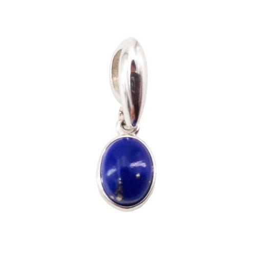 pendentif lapis lazuli argent rhodie