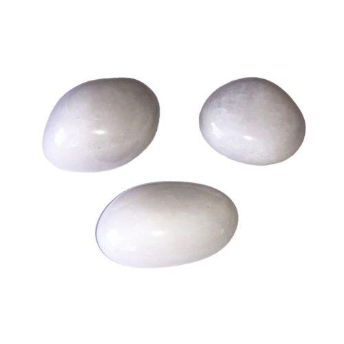 Snow Quartz tumbled stones