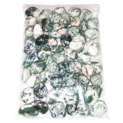 1 kg bag of Tree Agate tumbled stones