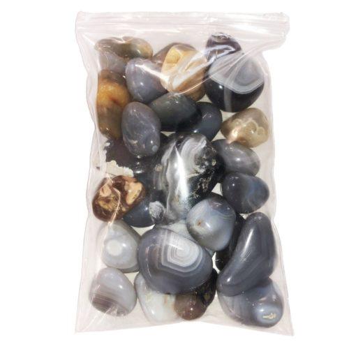 500grs bag of Botswana Agate tumbled stones