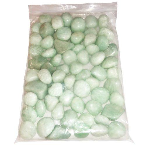1kg bag of amazonite tumbled stones