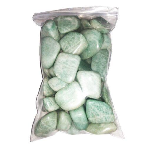 500grs bag of Amazonite Tumbled Stones