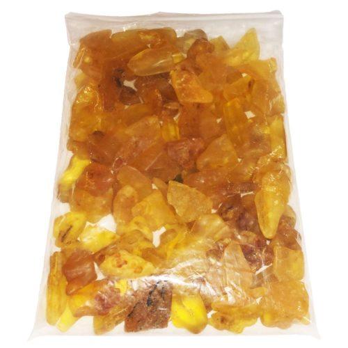 1kg bag of Amber tumbled stones