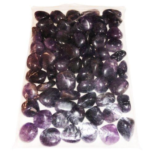 1k bag of amethyst tumbled stones