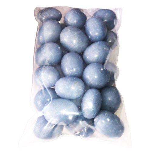 500grs bag of angelite tumbled stones