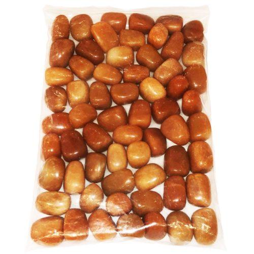1 kg bag of red aventurine tumbled stones