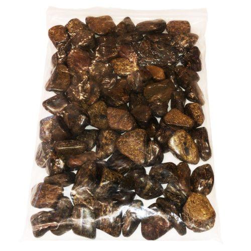 1kg bag of Bronzite tumbled stones