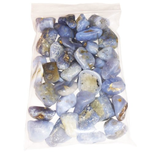 1kg bag of Chalcedony tumbled stones