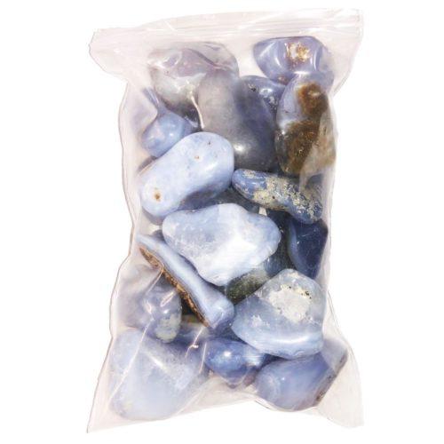 bag of Chalcedony tumbled stones