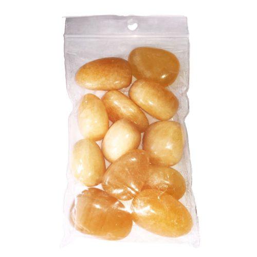 250 grs bag of Orange Calcite tumbled stones