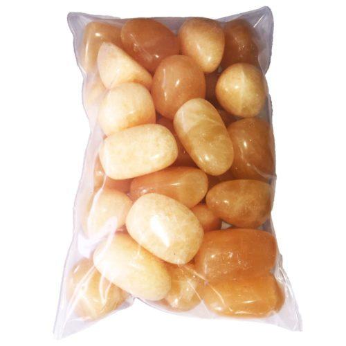 bag of Orange Calcite tumbled stones
