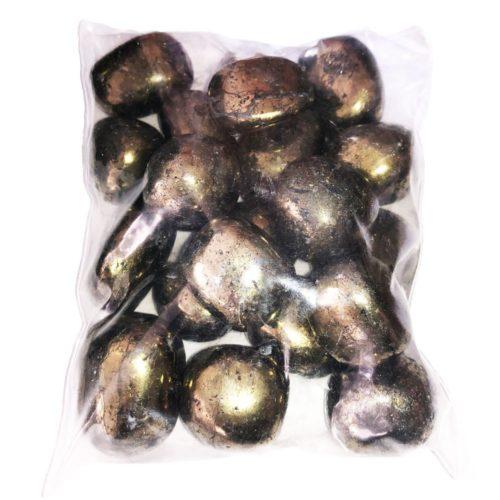 bag of Chalcopyrite tumbled stones