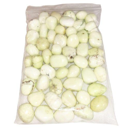 1kg bag of Lemon Chrysoprase tumbled stones