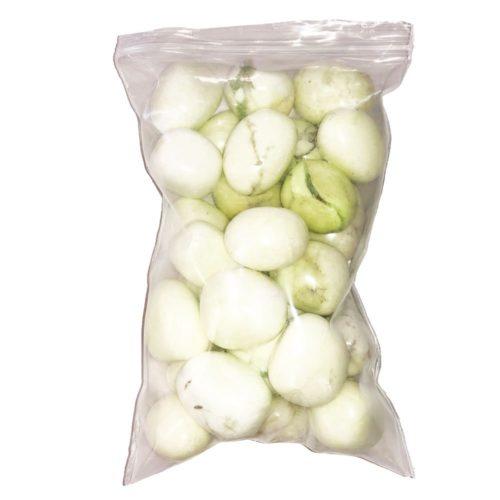 bag of Citron Chrysoprase tumbled stones
