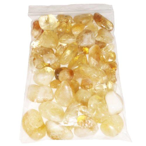 1kg bag of Citrine tumbled stones