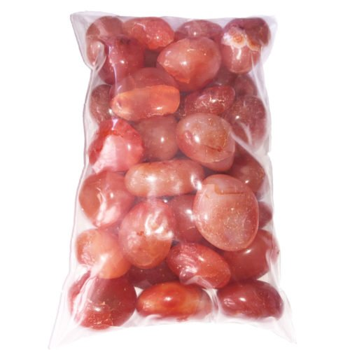 bag of carnelian tumbled stones