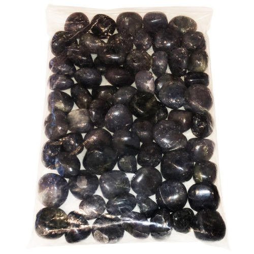 1kg bag of Iolith tumbled stones
