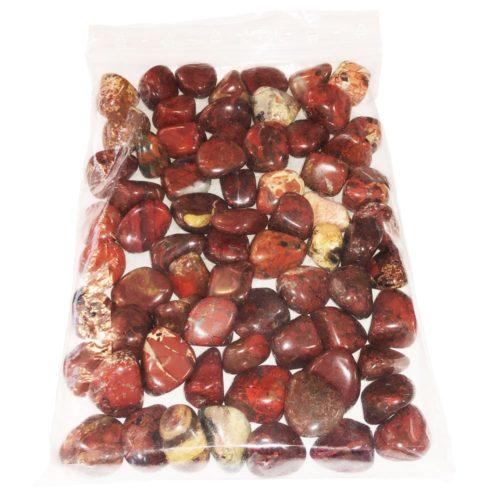 1kg bag of Brecciated Jasper tumbled stones