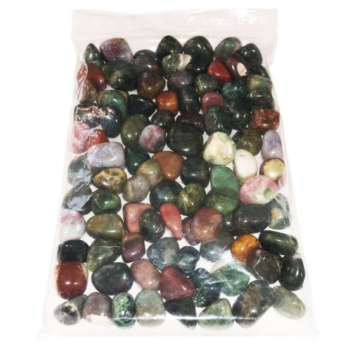 1kg bag of Heliotrope Jasper tumbled stones