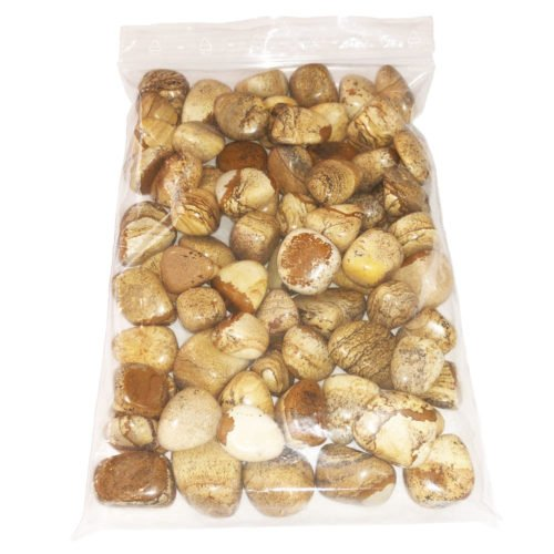 1kg bag of Landscape Jasper tumbled stones