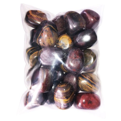 bag of Tiger Iron tumbled stones