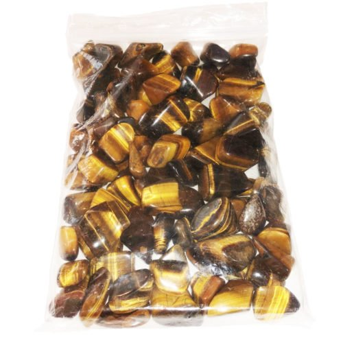 1kg bag of Tiger's Eye stones
