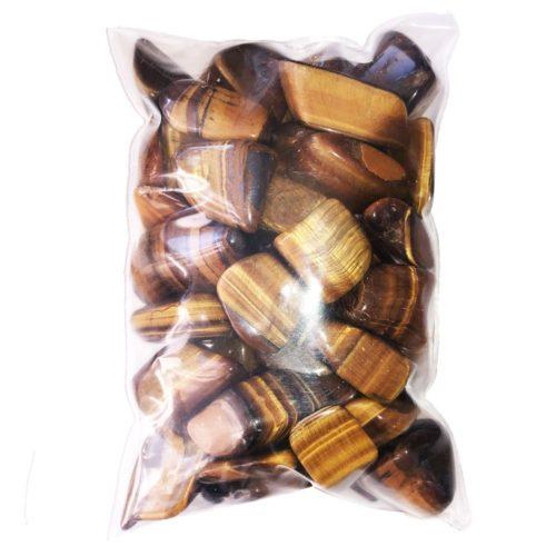 bag of Tiger's Eye tumbled stones