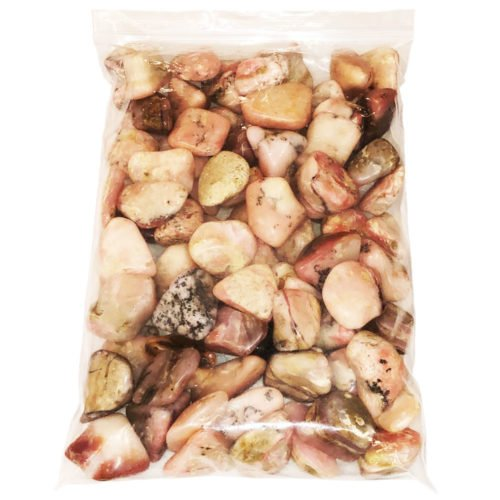 bag of Andes Opal tumbled stones