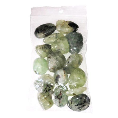 250 grs bag of Prehnite tumbled stones