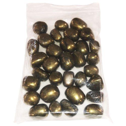 Iron Pyrite tumbled stones