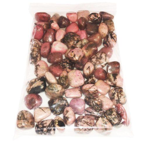 1kg bag of Rhodonite tumbled stones
