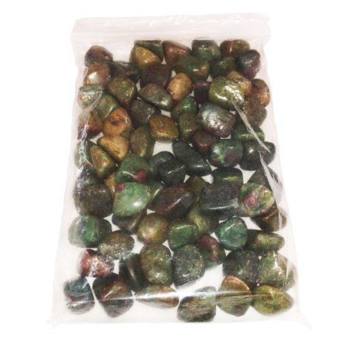 bag of Ruby in fuchsite stones