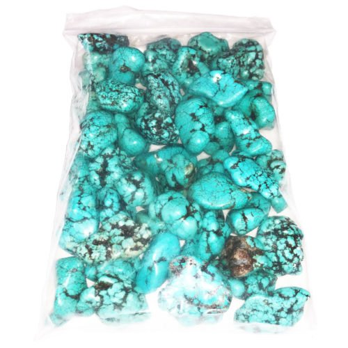 bag of Turquoise tumbled stones