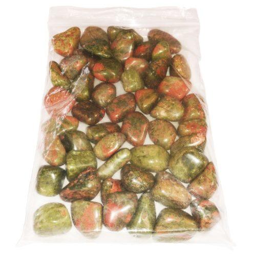 bag of Unakite tumbled stones